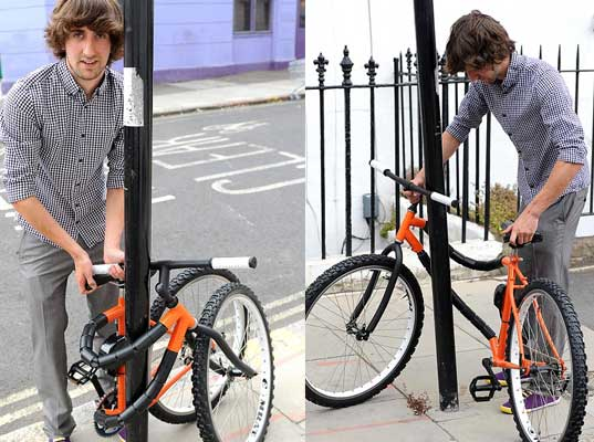 Self-locking bendy bicycle