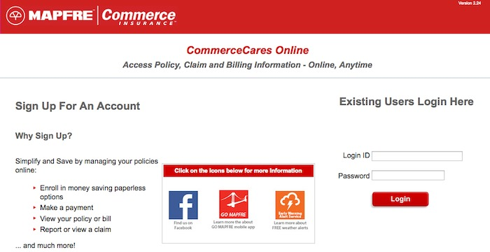 Commerce Insurance Login, Online Benefits And More Info At www.mapfreinsurance.com
