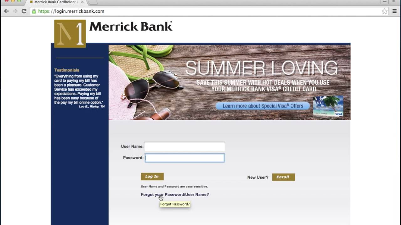 Merrick Bank Login: Online Banking, Credit Card, Payment Details, And More!
