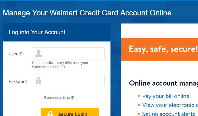 Walmart Credit Card Login: Online Banking Sign In, Register & Payment Guide
