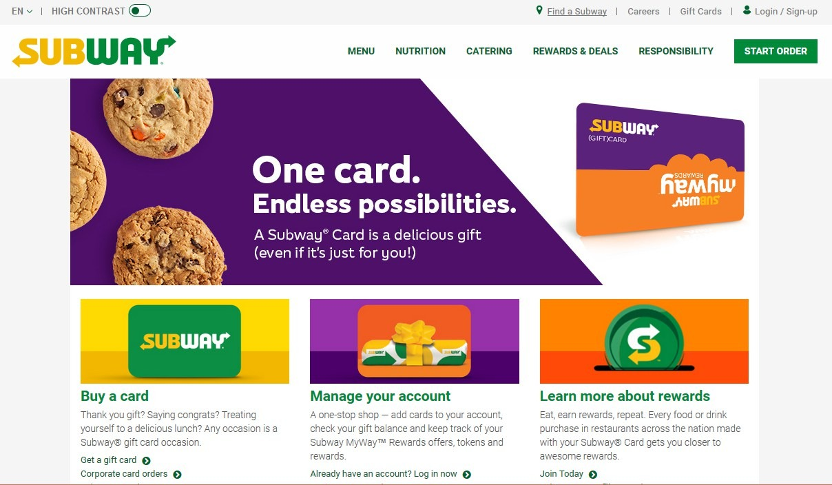 MySubwayCard Login: Check Subway Gift Card Balance At www.mysubwaycard.com
