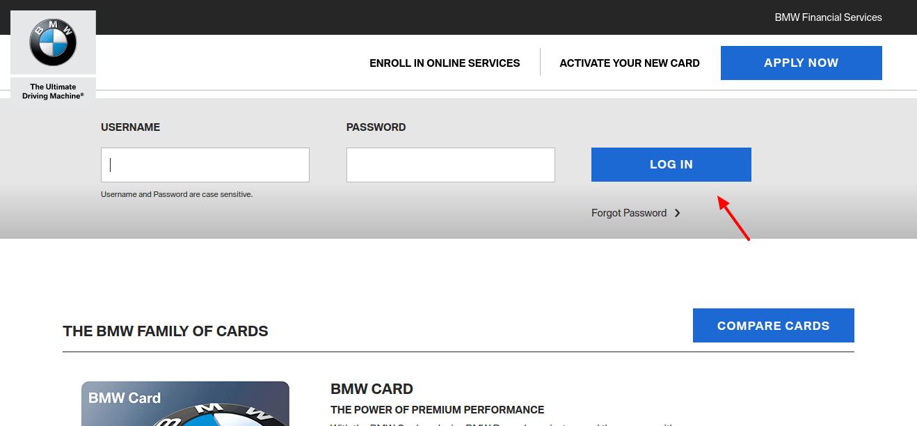 MyBMWCard Login: BMW Credit Card Service & Rewards At www.mybmwcard.com