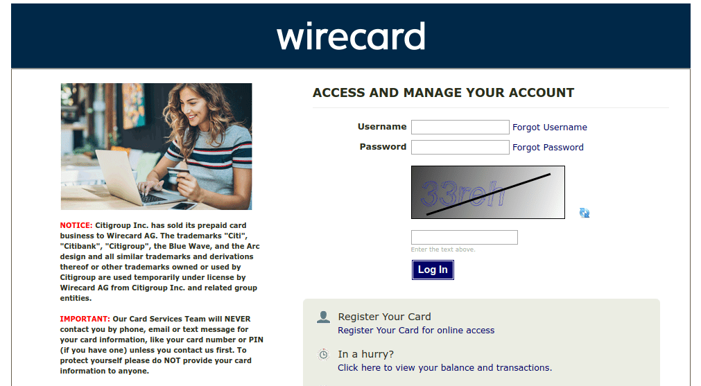 Citiprepaid Login: Access Wirecard & Check Prepaid Cards Statement At login.wirecard.com