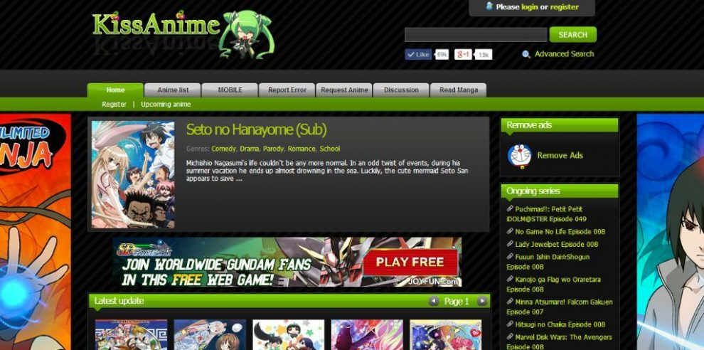 KissAnime Website: Install KissAnime Mobile App And Watch KissAnime In HD