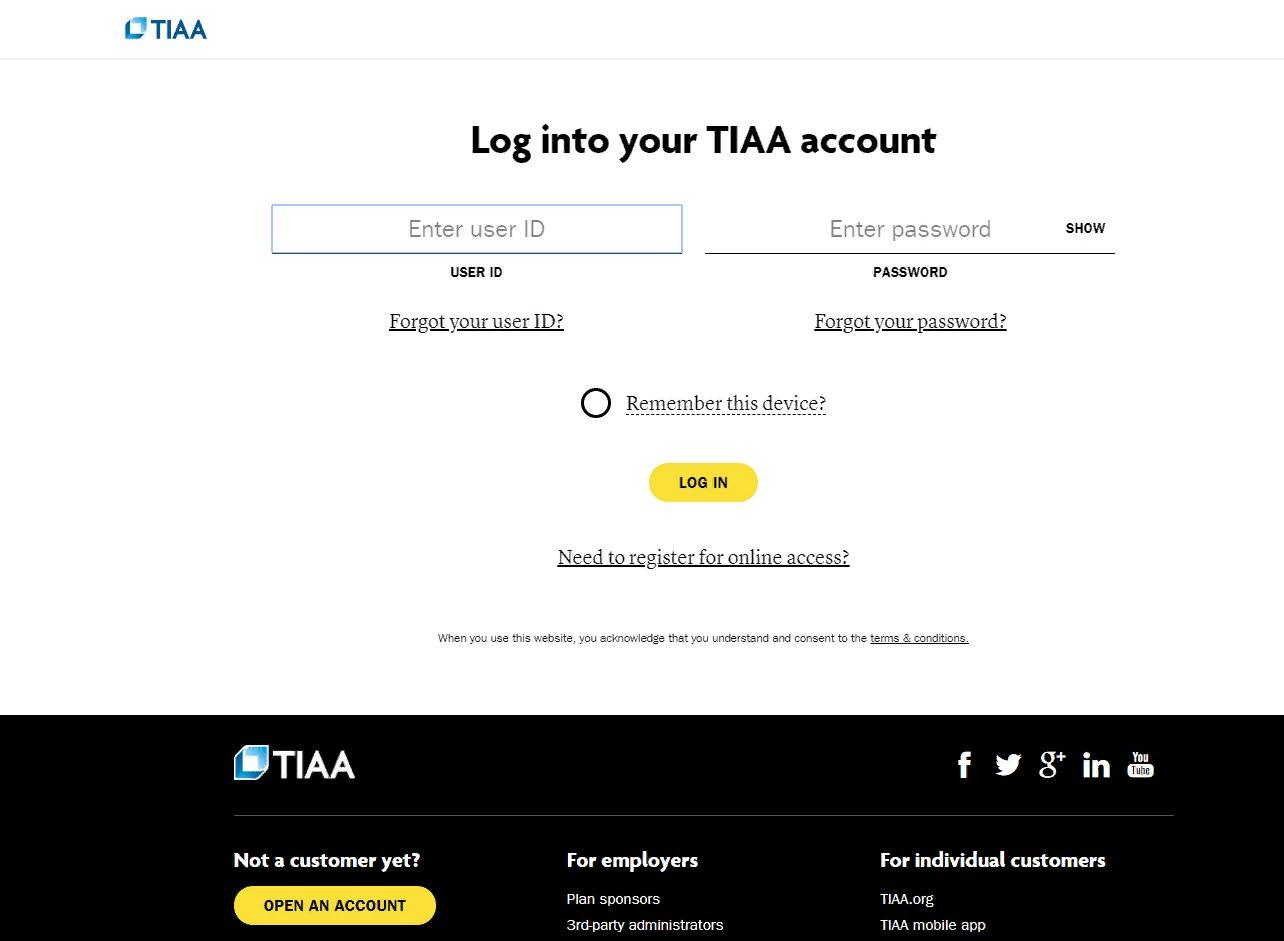 TIAA Online Account