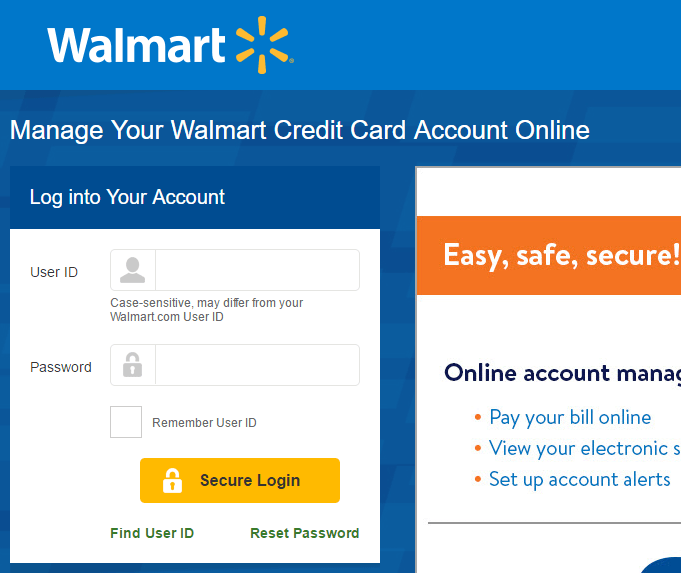 Walmart Credit Card Online Banking And Walmart CC Login, Payment & Other Guide