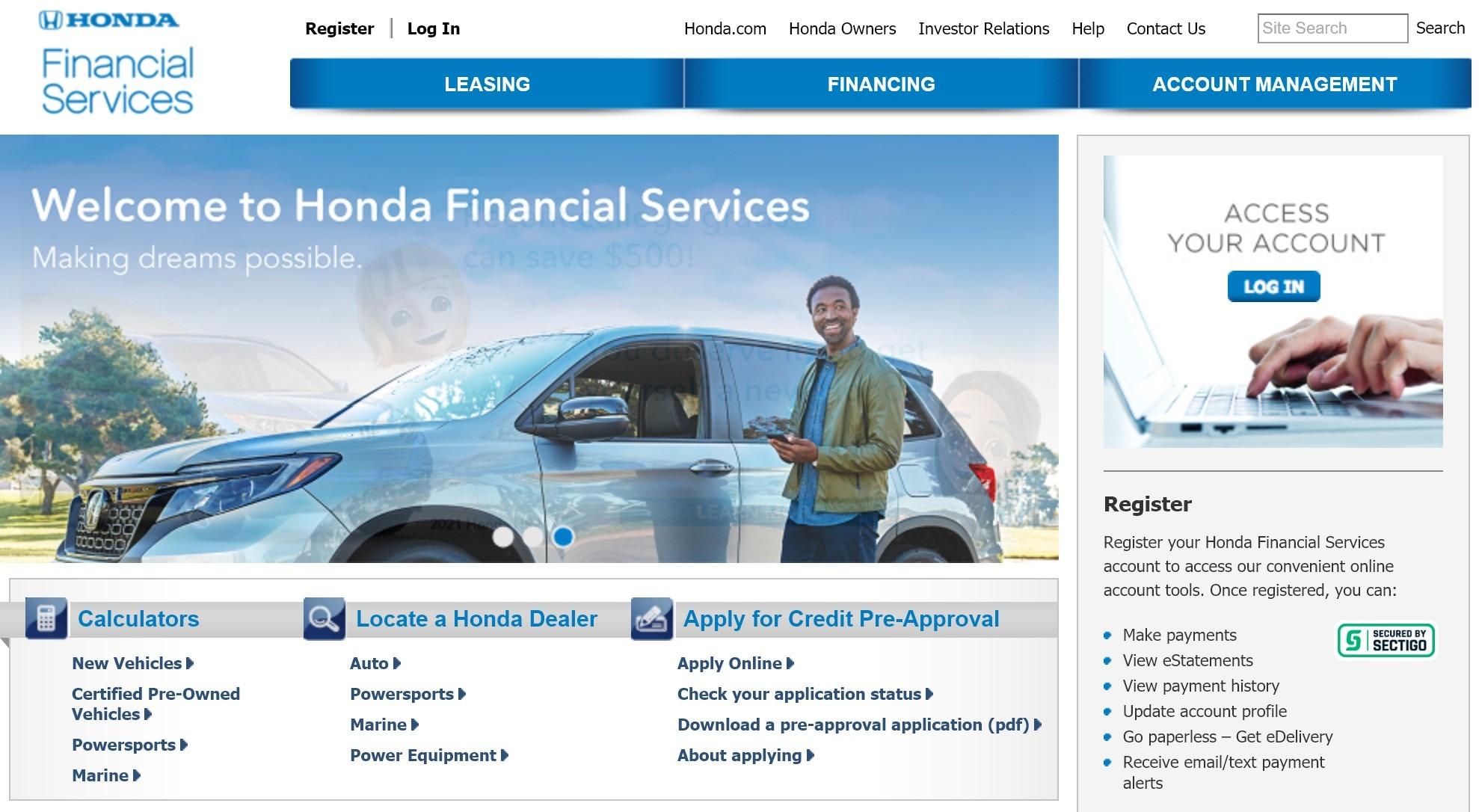Honda Financial Auto Loan Online Payment