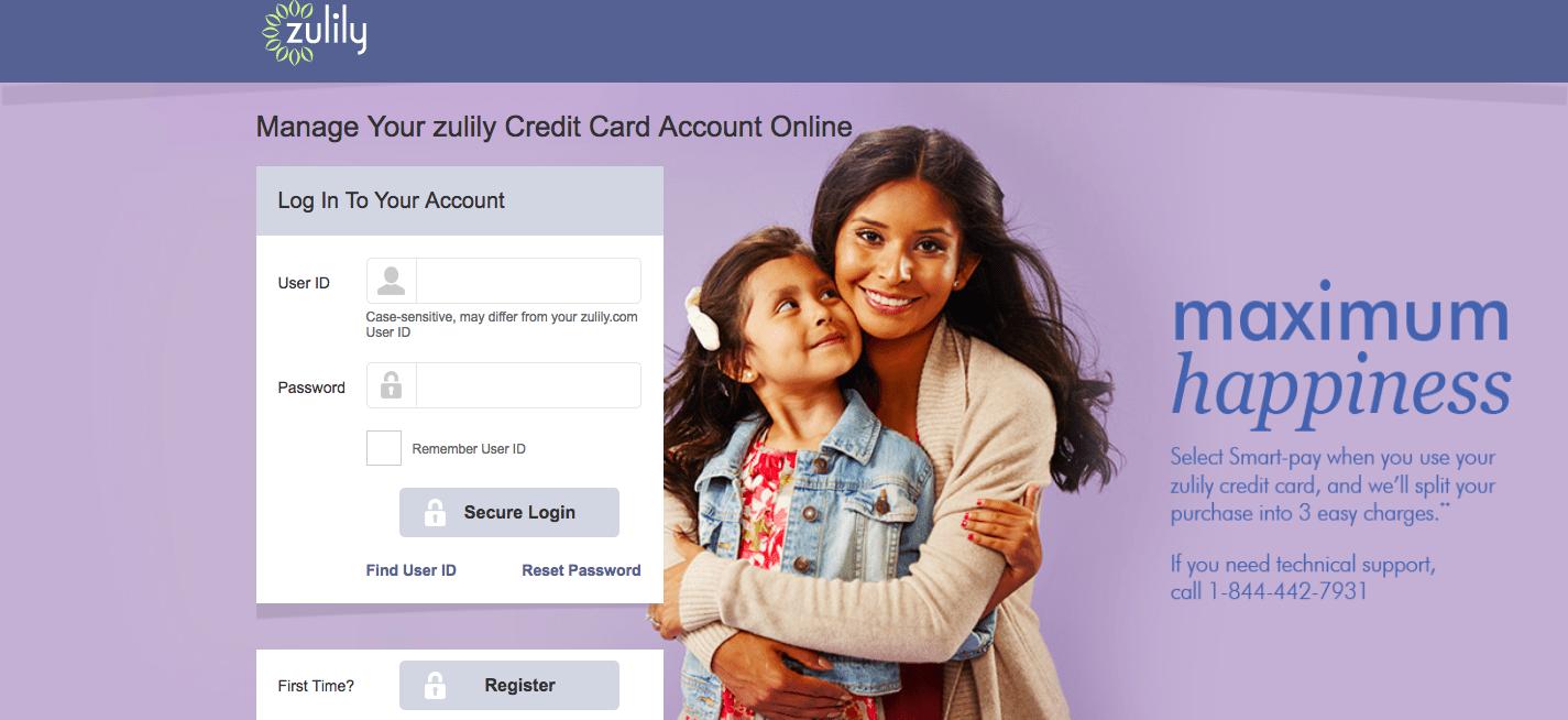 Zulily Credit Card Login