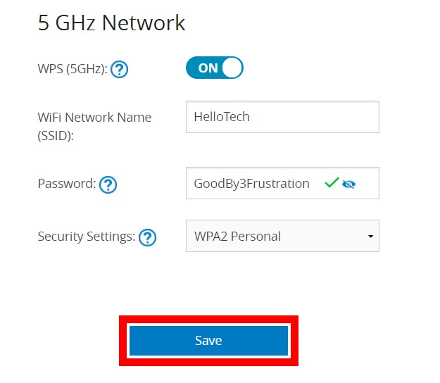 change the username and password of your wifi